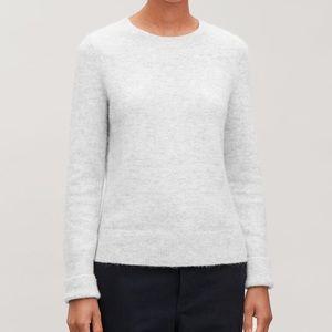COS grey alpaca wool sweater